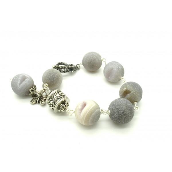 bracelet perle mod le min raux g ode de gypse. Black Bedroom Furniture Sets. Home Design Ideas