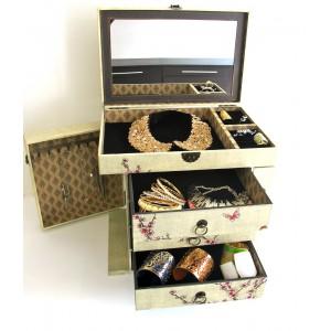 Grand coffret en bois Lily style Japonais