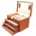 Malette à bijoux 3 tiroirs Davidt's façon cuir grainé